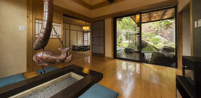 どこよりもおトクな藤田観光リゾート施設のご案内!敷地内に点在する個性ある10棟の離れ 由布院緑涌
